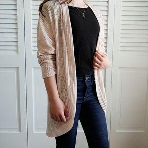 Sweaters - Women's Neutral Beige Lightweight Cotton Cardigan